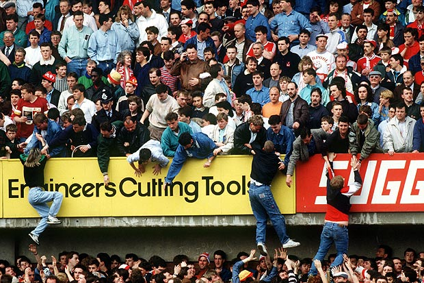 Image du drame d'Hillsborough en 1989