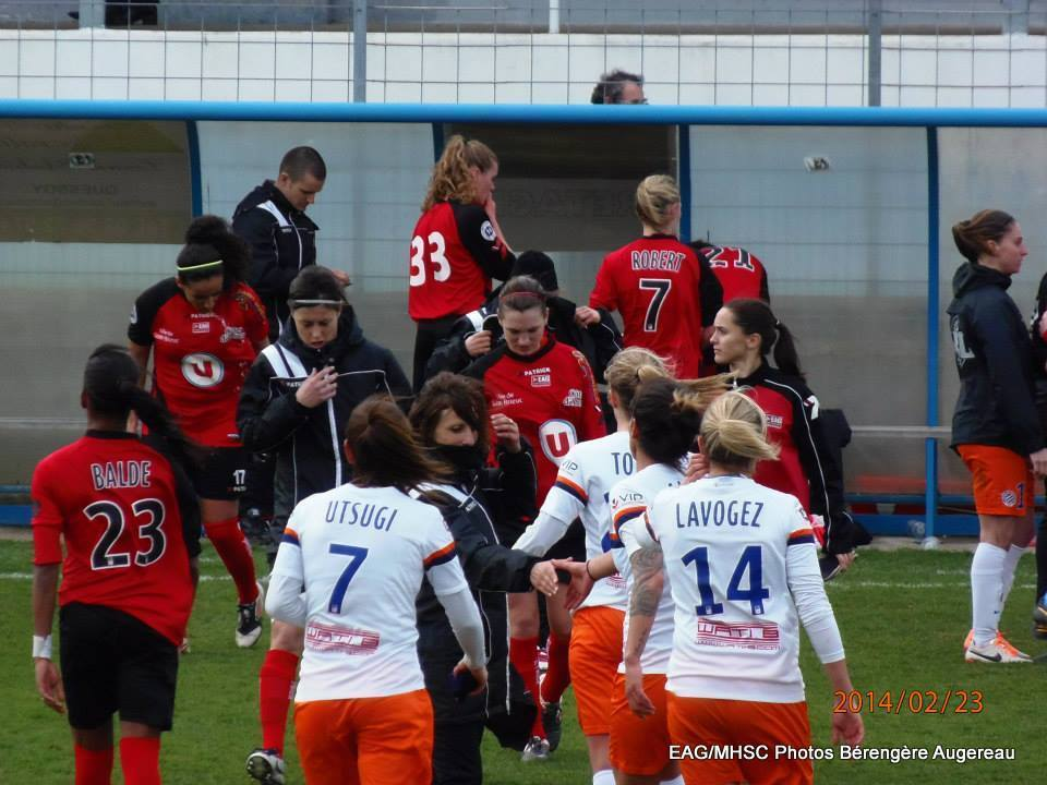 Faustine contre Montpellier 2014 2