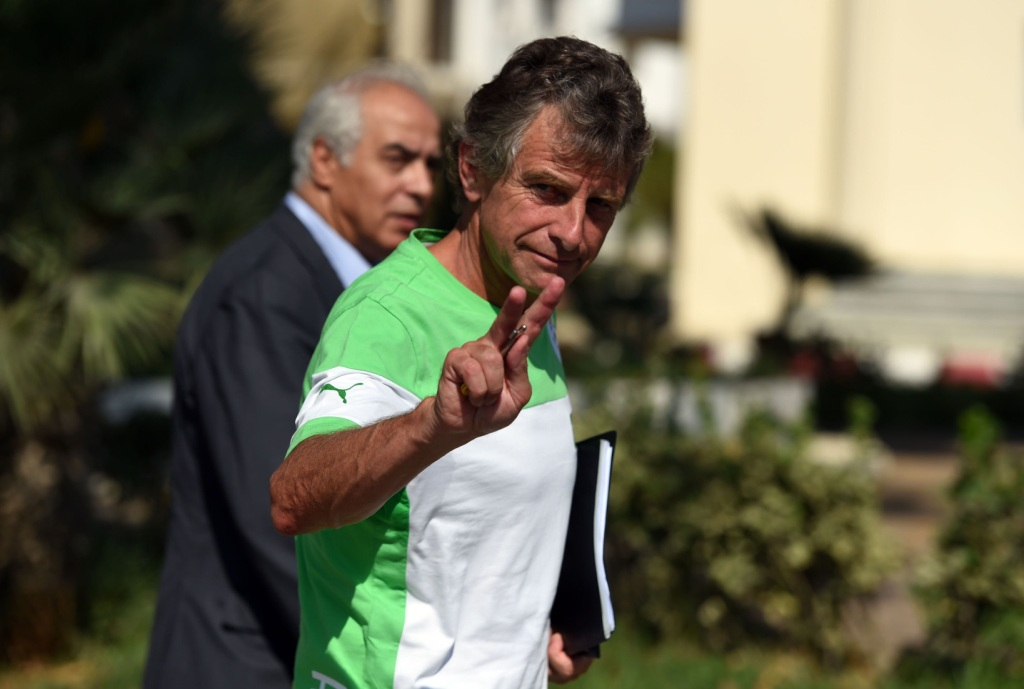 "New Algerian national football team coach Frenchman Christian Gourcuff attends a trainning session at the Sidi Moussa centre in Algiers, on September 2, 2014. The Algerian Football Federation announced in a statement that Gourcuff had signed ""a contract with objectives including the Africa Cup of Nations in 2015 and 2017 and the 2018 World Cup."" Former Lorient coach Gourcuff, 59, will also coach the A team, made up exclusively of locally-based players. AFP PHOTO / FAROUK BATICHE (Photo credit should read FAROUK BATICHE/AFP/Getty Images)"