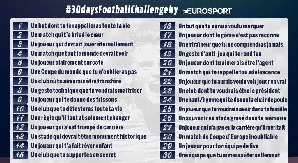 Hs 30 Days Football Challenge Eurosport Sur Le Forum Fifa 17