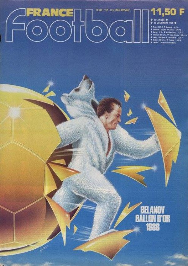 Couverture France Football Igor Belanov ballon d'or